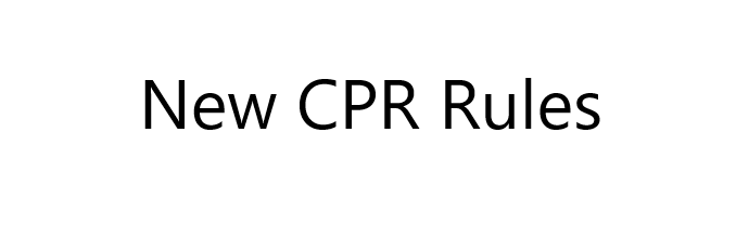 New CPR Rules for the 2019 Trail